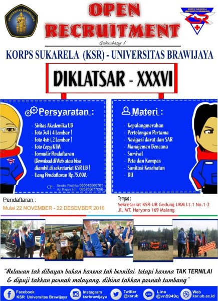 OPEN RECRUITMENT DIKLATSAR XXXVI